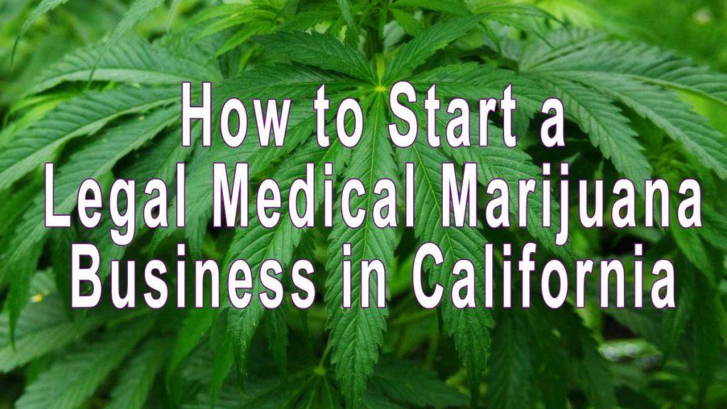 start medical marijuana business california